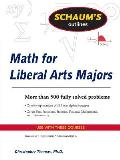 Schaums Outlines Math for Liberal Arts Majors