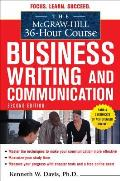 McGraw Hill 36 Hour Course in Business Writing & Communication 2nd Edition
