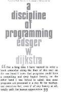A Discipline of Programming