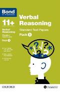 Bond 11+: Verbal Reasoning: Standard Test Paperspack 1