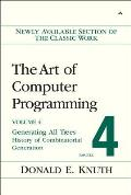The Art of Computer Programming: Generating All Trees--History of Combinatorial Generation; Volume 4