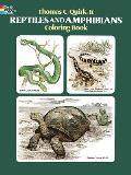 Reptiles & Amphibians Coloring Book