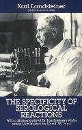 Specificity Of Serological Reactions 3rd Edition