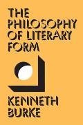 Philosophy Of Literary Form Studies In