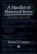 Handlist of Rhetorical Terms 2nd Edition