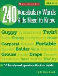 240 Vocabulary Words Kids Need to Know, Grade 4