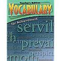 Great Source Vocabulary for Achievement: Teacher Edition Grade 11 Fifth Course 2006