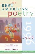 Best American Poetry 1996