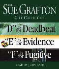 Sue Grafton Def Gift Collection D Is for Deadbeat E Is for Evidence F Is for Fugitive