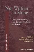 Not Written in Stone: Jews, Constitutions, and Constitutionalism in Canada