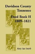 Davidson County, Tennessee, Deed Book H: 1809-1821