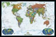 National Geographic Reference Map||||National Geographic: World Decorator Wall Map - Laminated (46 x 30.5 inches)