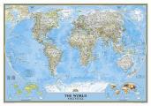 World Classic Political Map Laminated