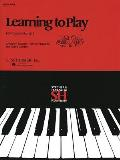Learning to Play Instructional Series - Book I: Piano Technique