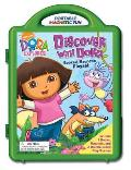 Discover with Dora Books & Magnetic Playset [With Book(s) and 3 Double-Sided Play Scenes and Magnet(s)]
