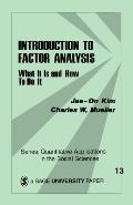 Introduction to Factor Analysis What It Is & How to Do It