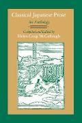Classical Japanese Prose An Anthology