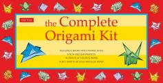 Complete Origami Kit With 2 Books & Paper Metallic Paper Objects Etc