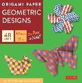 Origami Paper Geometric Prints: 49 Sheets