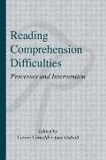 Reading Comprehension Difficulties Processes & Intervention