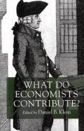 What Do Economists Contribute?