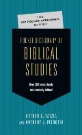 Pocket Dictionary of Biblical Studies: Over 300 Terms Clearly Concisely Defined