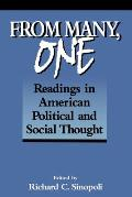 From Many, One: Readings in American Political and Social Thought