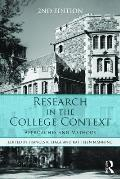 Research In The College Context Approaches & Methods
