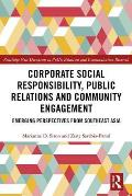 Corporate Social Responsibility, Public Relations & Community Development: Emerging Perspectives from Southeast Asia