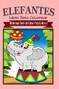 Elefantes Libro Para Colorear