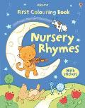 First Colouring Book With Stickers: Nursery Rhymes