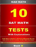 10 SAT Math Tests with Explanation Book D