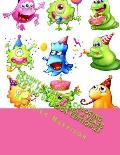 Funny Monsters Coloring Book: For Kid's Ages 4 Years Old and Up (Book Edition:2)