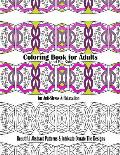 Coloring Book for Adults and Big Kids for Anti-Stress and Relaxation: Beautiful Abstract Patterns and Intricate Ornate Tile Designs