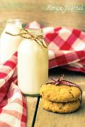 Recipe Journal: Milk and Cookies Cooking Journal, Lined and Numbered Blank Cookbook 6 X 9, 180 Pages