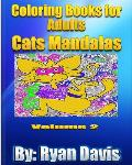 Coloring Books for Adults: Cats Mandalas
