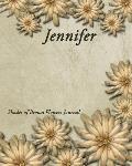 Shades of Brown Flowers Journal - Jennifer