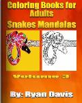 Coloring Books for Adults - Snakes Mandalas