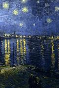 Vincent Van Gogh - Starry Night Over the Rhone Journal: 160 Page Lined Journal/Notebook