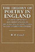 The Theory of Poetry in England: Its Development in Doctrines and Ideas from the Sixteenth Century to the Nineteenth Century