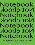 Big & Bold Low Vision Notebook 160 Pages with Bold Lines 1/2 Inch Spacing: Notebook Not eBook with Green Cover, Distinct, Thick Lines Offering High Co