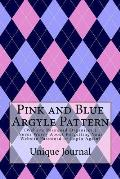 Pink and Blue Argyle Pattern: (Website Password Organizer ) Never Worry about Forgetting Your Website Password or Login Again!
