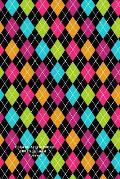 Colorful Argyle Pattern 100 Page Lined Journal: Blank 100 Page Lined Journal for Your Thoughts, Ideas, and Inspiration