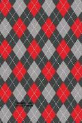 Red and Gray Argyle Pattern: (Website Password Organizer ) Never Worry about Forgetting Your Website Password or Login Again!