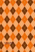 Orange and Brown Argyle Pattern: (Website Password Organizer ) Never Worry about Forgetting Your Website Password or Login Again!