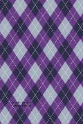 Purple and Gray Argyle Pattern: (Website Password Organizer ) Never Worry about Forgetting Your Website Password or Login Again!