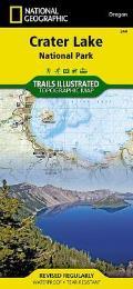 Crater Lake National Park Oregon Trails Map