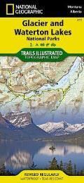 Glacier Waterton Lakes National Park Map National Geographic