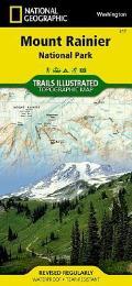 Mount Rainier National Park Washington Map