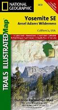 Yosemite Se, Ansel Adams Wilderness: Trails Illustrated - National Park Maps